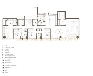 TwentyOne Angullia Park Floor Plan - 4 Bedroom Type C1