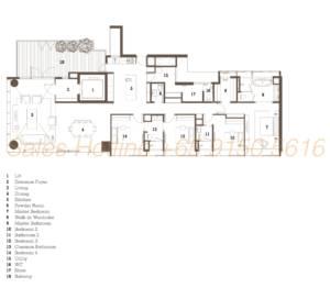 TwentyOne Angullia Park Floor Plan - 4 Bedroom Type C3