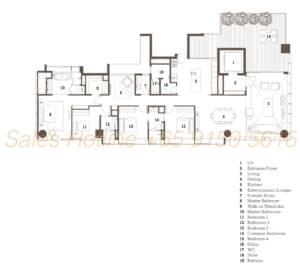 TwentyOne Angullia Park Floor Plan - 4 Bedroom Type C4